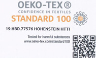 oekotex-Frottier-Bademantel