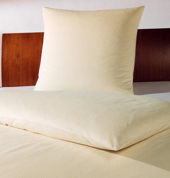 4 mm Hotelbettwäsche Feinstreifen sekt