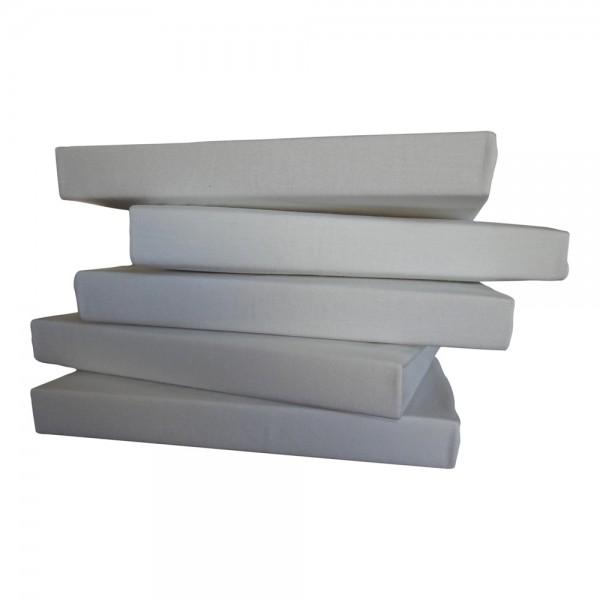 Jersey-Spannbettlaken Baumwolle weiß