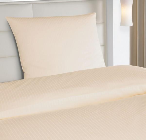 2|12 mm Streifen Hotelbettwäsche Vera sekt