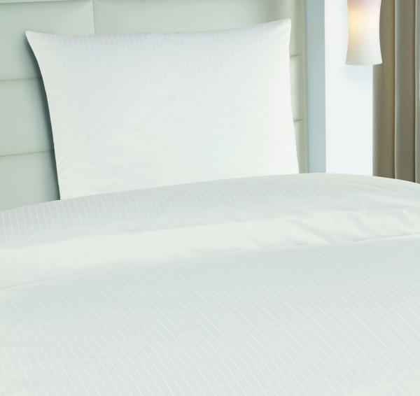 2|12 mm Streifen Hotelbettwäsche Vera weiß
