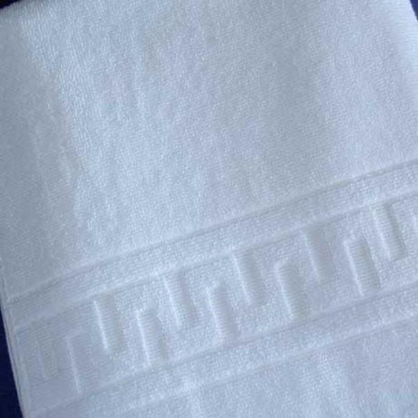 Handtuch Duschtuch Mäanderborte weiß
