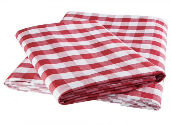 Tischdecke Karo rot-weiß