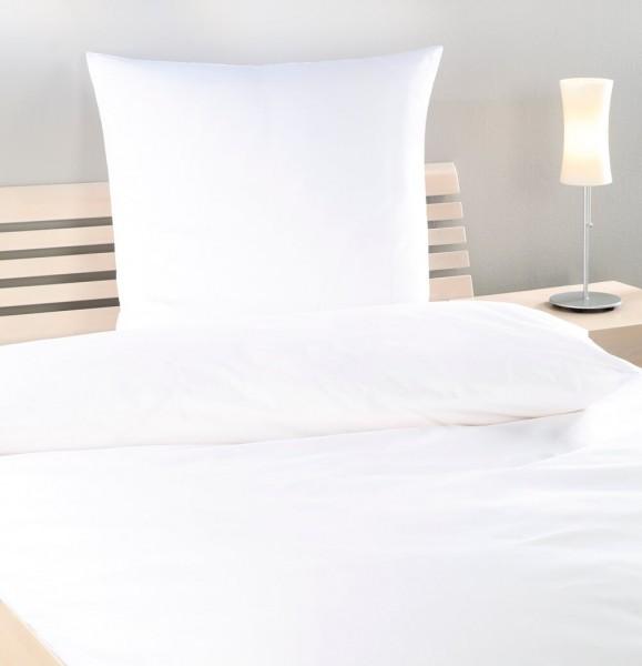 Hotel Bettwäsche Basic Uni Glatt G11 weiss