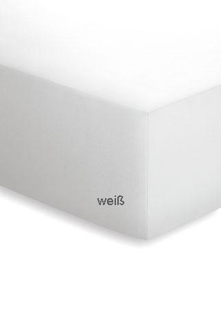 Jersey-Spannbetttuch Basisline weiß