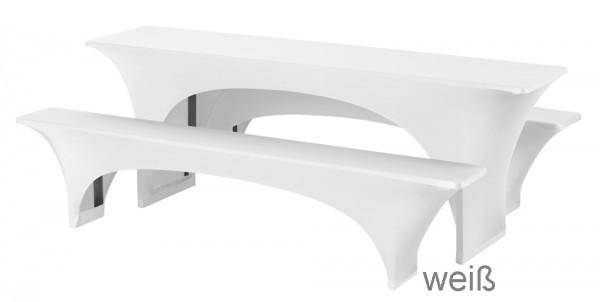 Festzelt Stretchgarnitur weiß