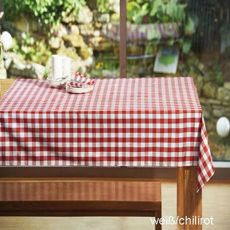 Tischdecke Cottage Karo chilirot