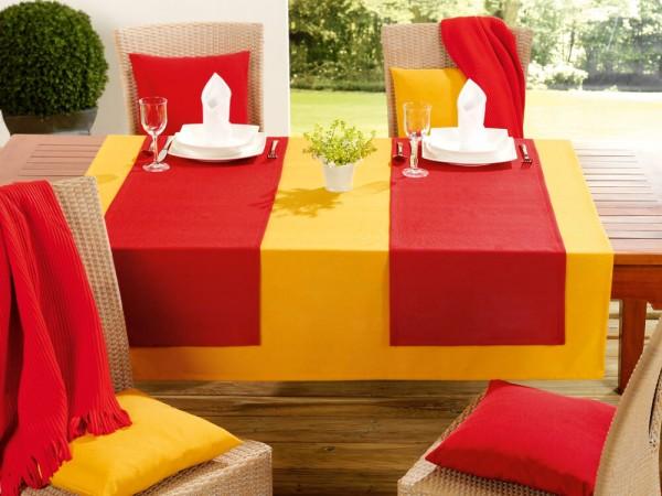 Tischdecke Milano karminrot gelb