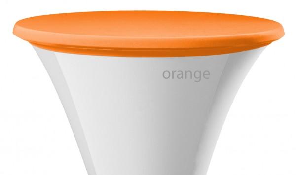 Stehtisch Tischplattenbezug orange