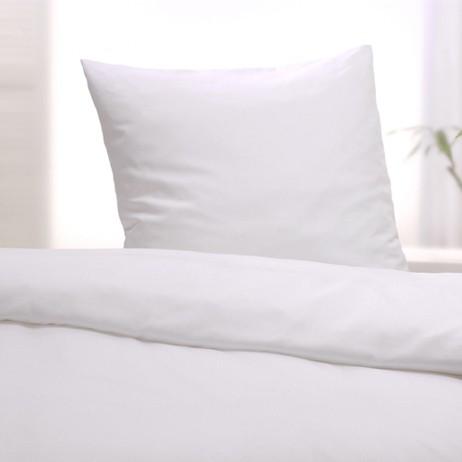 Bettwäsche Classic uni glatt weiß