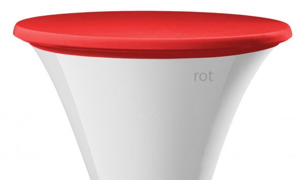 Stehtisch Tischplattenbezug rot