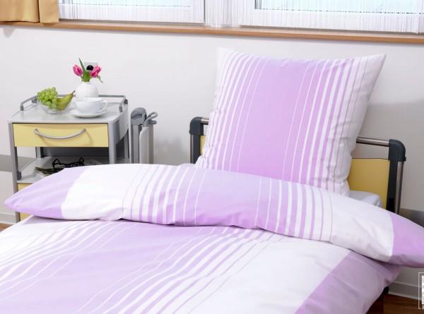 Bettwäsche Verlaufstreifen Candy lila