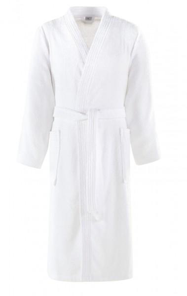 Hotelbademantel Kimono weiß