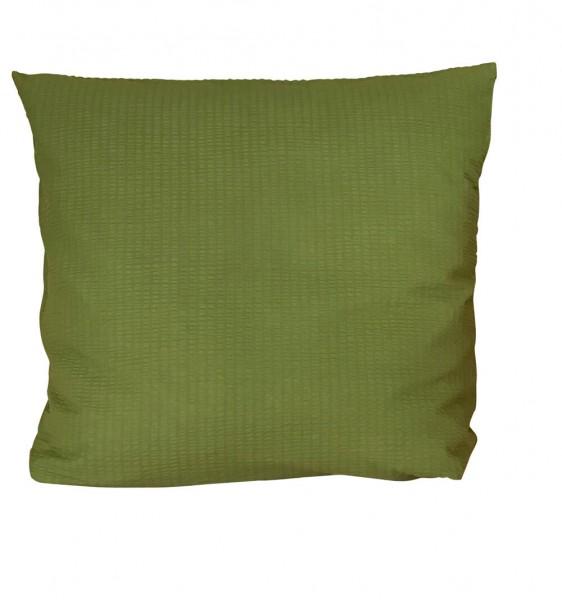 Bettwäsche Seersucker uni grün