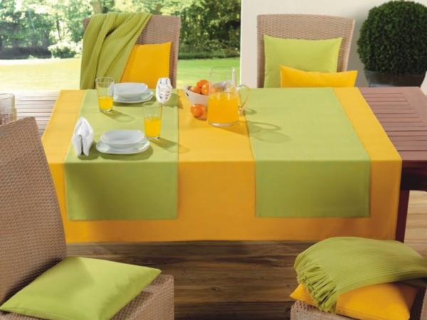 Tischdecke Milano hellgrün gelb