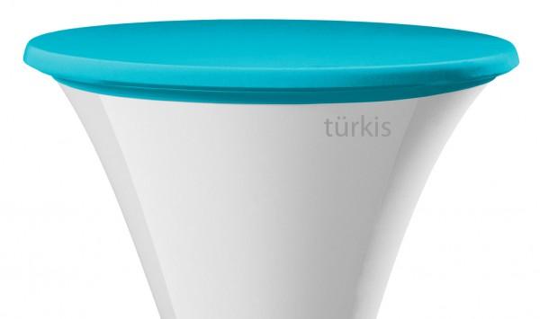 Stehtisch Tischplattenbezug türkis