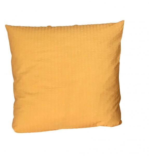 Bettwäsche Seersucker uni gelb