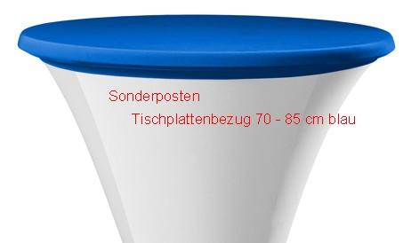 Tischplattenbezug DECODORIA 70 - 85 cm 1 x 9 Stück blau